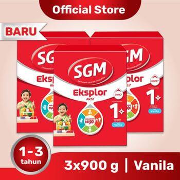 Paket 3 - SGM Eksplor 1 Plus Susu Pertumbuhan 1-3 Tahun Vanila 900 g harga terbaik
