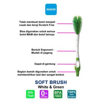 MAM Soft Brush - Sikat Botol Bayi - 1 Pcs harga terbaik 101645