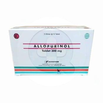 Allopurinol Bernofarm 300 mg (1 Strip @ 10 Tablet)