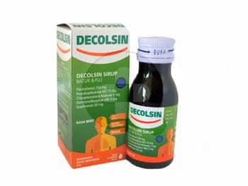Decolsin sirup berguna untuk meredakan batuk tidak berdahak, hidung tersumbat, nyeri, dan demam akibat flu