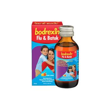 Bodrexin PE sirup obat untuk meredakan demam, sakit kepala, dan batuk berdahak