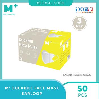 M+ Masker Duckbill Earloop 3 Ply - Duckbill Face Mask  harga terbaik 149000