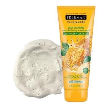 Freeman Feeling Beautiful Deep Clearing Manuka Honey & Tea Tree Oil Clay Mask and Cleanser 175 ml harga terbaik 96800