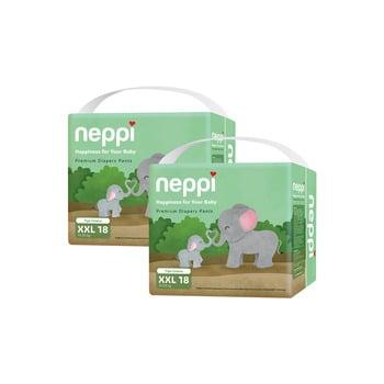 Neppi Premium Baby Diaper Pants XXL 18 - Twinpack harga terbaik 133800