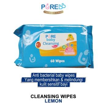 Pure Baby Cleansing Wipes Lemon 60's harga terbaik 11333