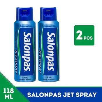 Salonpas Twinpack - Jet Spray Pereda Nyeri 118 mL harga terbaik 173600