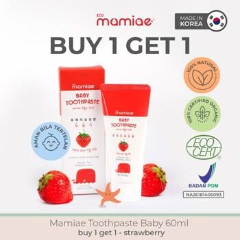 Mamiae Baby Organic Toothpaste/Pasta Gigi Bayi 60 ml - Strawberry  harga terbaik 109000