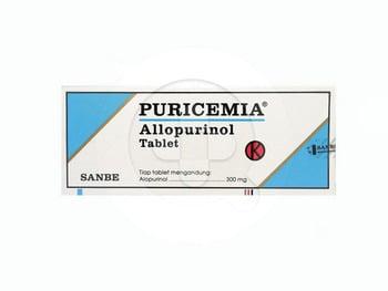 Puricemia tablet adalah obat untuk menurunkan kadar asam urat dalam tubuh karena terapi kanker.