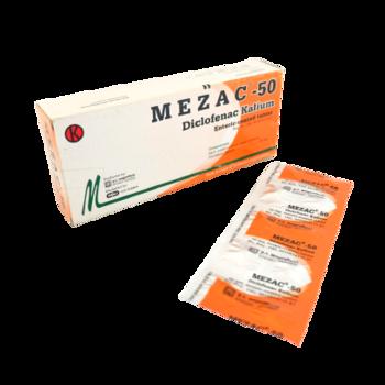 Mezac tablet adalah obat untuk pengobatan jangka pendek pada kondisi-kondisi nyeri akut.