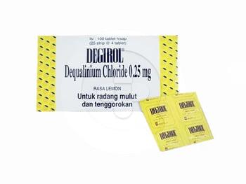 Degirol tablet adalah obat yang digunakan untuk infeksi bakteri dan jamur pada rongga mulut