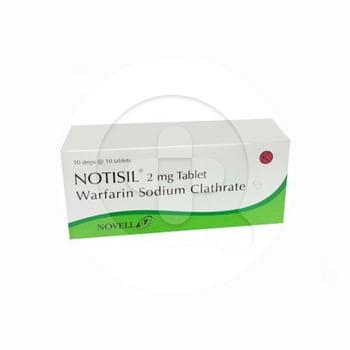 Notisil tablet adalah obat untuk mencegah pembekuan atau penggumpalan darah