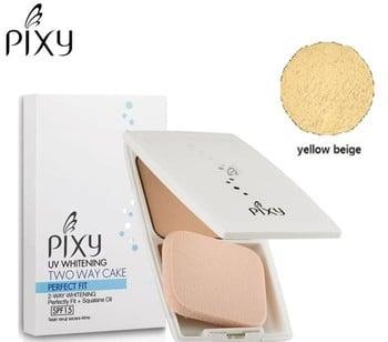 Pixy Bedak UV Whitening Two Way Cake + SPF 15 Yellow Beige 150 g harga terbaik 36830