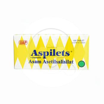 Aspilets tablet digunakan untuk mengatasi gangguan kesehatan akibat penggumpalan darah di pembuluh vena