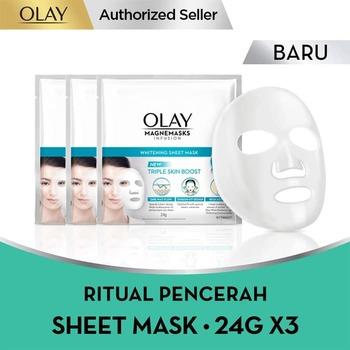Olay Magnemask Infusion Advance Whitening Sheet Mask 24 g - Paket Isi 3 harga terbaik
