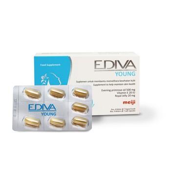 Ediva Young kapsul merupakan suplemen untuk membantu memelihara kesehatan kulit.
