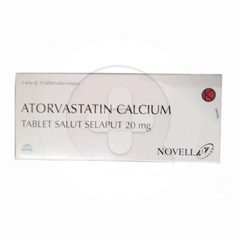Atorvastatin Novell Tablet 20 mg  harga terbaik