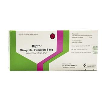 Bipro tablet adalah obat untuk mengobati tekanan darah tinggi, nyeri dada, dan gagal jantung
