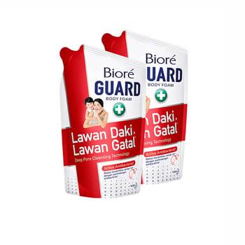 BIORE Body Foam Active Antibacterial Antiseptic Pouch 450mL Twinpack harga terbaik 47600