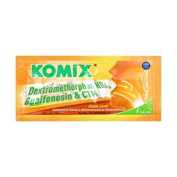 Komix Jahe berfungsi untuk meredakan batuk berdahak dan memberikan rasa hangat di saluran pernapasan