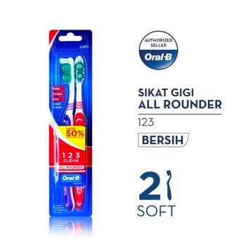 Oral-B Sikat Gigi All Rounder 123 Soft 2s harga terbaik 10300