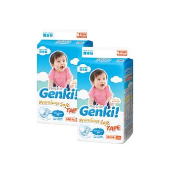 Nepia Genki Premium Soft Tape M 64 - Twinpack harga terbaik 440446