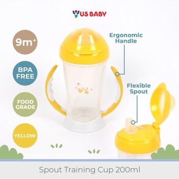 US Baby Spout Training Cup 200 ml - Yellow harga terbaik 89000