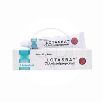 Lotasbat salep adalah obat untuk terapi jangka pendek pada pengobatan peradangan pada kulit.