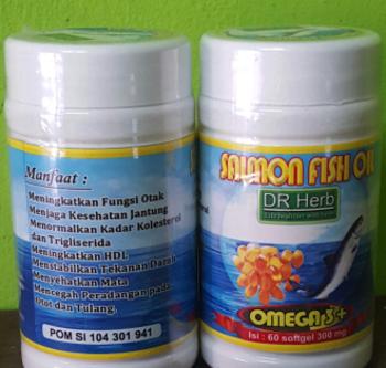 Dr Herb Salmon Fish Oil Tablet  harga terbaik