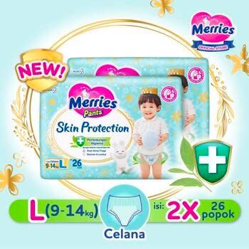 Merries Skin Protection Popok Bayi Celana L 26  harga terbaik 166200