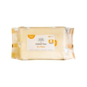 CottonTree Dry Wipes 50s harga terbaik 27500