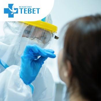 Rapid Swab Antigen Test COVID-19 di RS Tebet, Jakarta Selatan