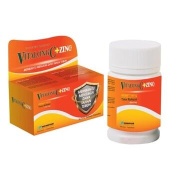 Vitalong C+Zinc kapsul adalah suplemen untuk membantu memenuhi kebutuhan vitamin C dan zinc