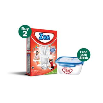 Buy 2 Zee Reguler Vanilla Twist Milk 350 g - Free Lock & Lock harga terbaik 87000