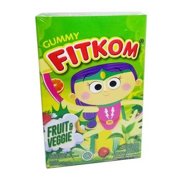 Fitkom Gummy Fruit and Veggie merupakan permen gula lunak yang digunakan sebagai multivitamin pada anak.