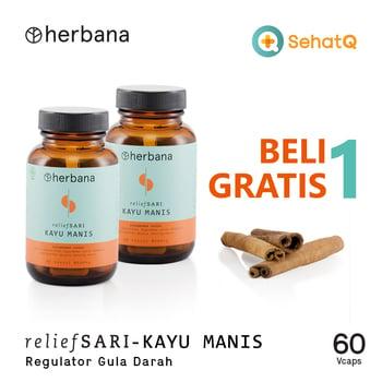 BUY 1 GET 1 Herbana Relief Sari Kayu Manis - 60 Kapsul harga terbaik 226000