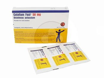 Cataflam Fast sachet adalah obat untuk meredakan nyeri dan mengurangi peradangan