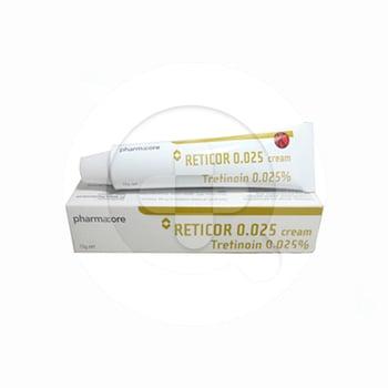 Reticor 0,025 % krim 15 g adalah obat untuk pengobatan jerawat, komedo, papul dan pustula.