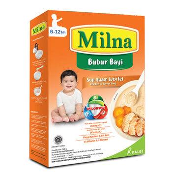 Milna Bubur Reguler 6 Bulan Sup Ayam Wortel 120 g harga terbaik