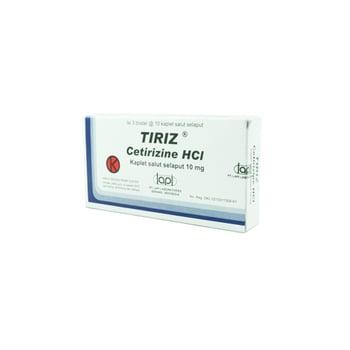 Tiriz Tablet adalah obat untuk mengatasi gejala alergi, seperti bersin, gatal, mata berair, atau pilek