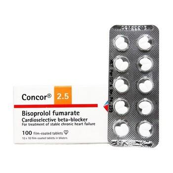 Concor tablet adalah obat untuk mengobati hipertensi dan angina pektoris atau nyeri dada