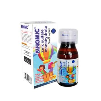 Binomic sirup 60 ml adalah obat yang digunakan untuk terapi pelengkap diare pada anak-anak