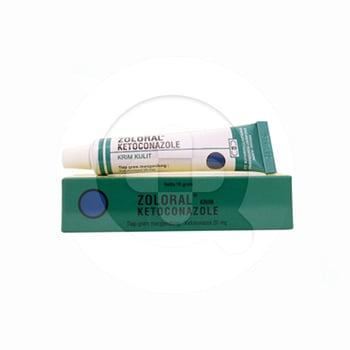 Zoloral krim 10 g obat yang digunakan untuk mengobati infeksi pada kulit yang disebabkan oleh jamur atau ragi.