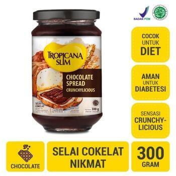 Tropicana Slim Chocolate Spread 300 g harga terbaik 88400