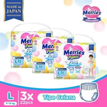 Merries Baby Diapers Pants L 22S - Triple Pack harga terbaik 352200