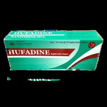 Hufadine kaplet obat yang digunakan untuk mengobati tukak pada lambung dan usus akibat peningkatan asam lambung.