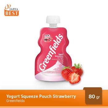 Greenfields Yogurt  Pouch Strawberry 80 g harga terbaik
