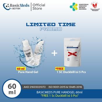 Basicmeds Handgel 60 ml - Free Masker Duckbill  harga terbaik 22000