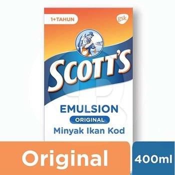 Scotts Emulsion Original dengan Omega 3, Vitamin A dan D 400 mL harga terbaik 55046