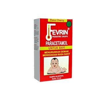 Fevrin tetes berguna untuk menurunkan demam serta mengurangi rasa nyeri pada bayi
