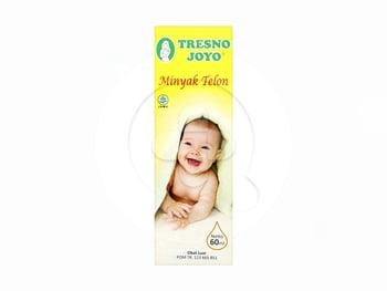 Tresno Joyo Minyak Telon 60 ml untuk meredakan perut kembung dan mencegah gigitan nyamuk